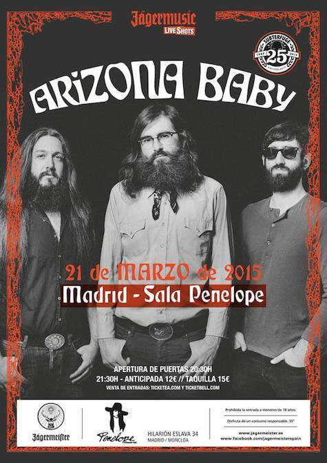 Gira Secret Fires de Arizona Baby