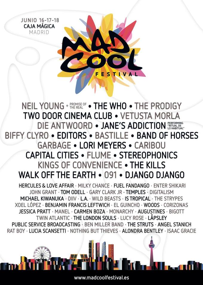 Cartel de Mad Cool Festival 2016