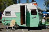 Classic 1956 Shasta Trailer, Ready For Camping