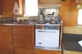 Original Holiday Propane Oven/Stove in 1962 Vintage Shasta Trailer