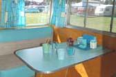 Restored Dining Area in Vintage Shasta Travel Trailer