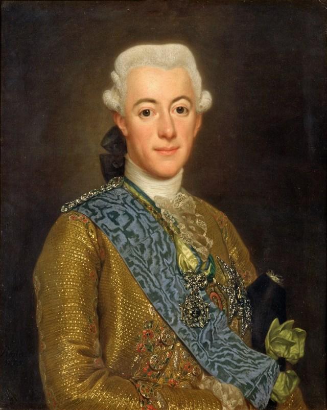oil portrait of King Gustav the Third of Sweden