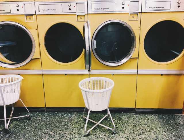 white laundry basket