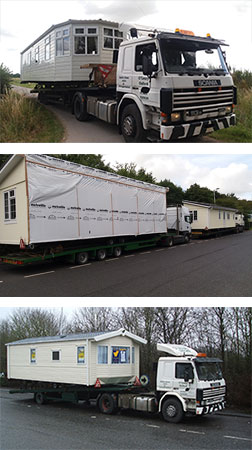Oleary Caravans mobile home transport