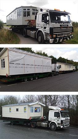 Oleary Caravans mobile home transport