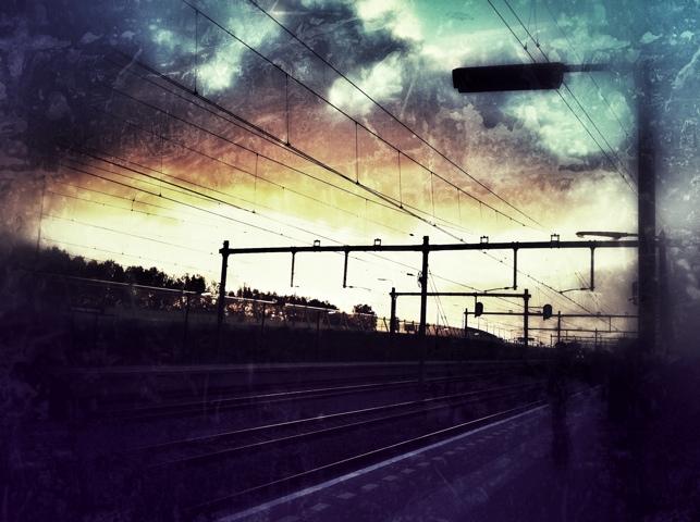 donkere ochtend op het station