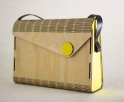 Puinen käsilaukku retro