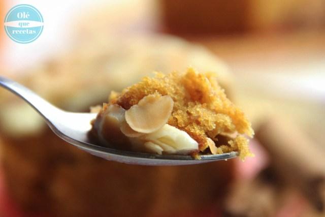 Pastel de calabaza con almendras tostadas