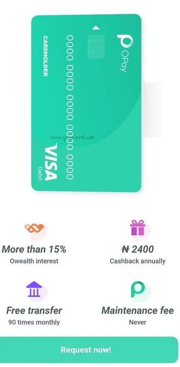OPay Debit Card Now Available for Users
