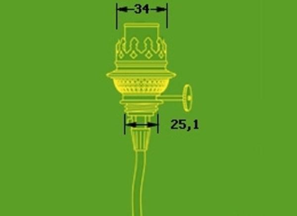 Brander imitatie kosmos 6 ligne met lamphouder E 14 onderinvoer 15