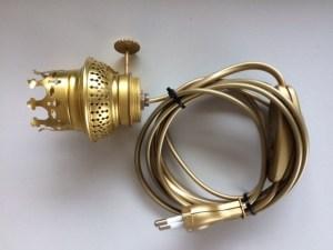 Brander imitatie 10 ligne met lamphouder E14 onderinvoer