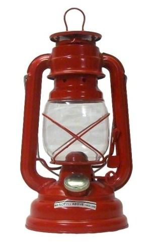 Stormlamp 25 cm kleur rood