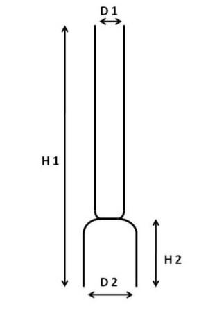 Kneepglas 12 ligne 43 mm