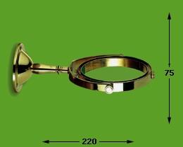 Wandarm cardanisch groot, brons 17