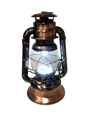 Stormlamp brons kleur 29 cm LED warm white-0