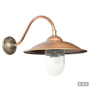 Buitenlamp Vienna l recht, brons/koper-0
