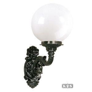 Buitenlamp Nice M, zwart/opaal-0