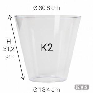 Kunststof glas K2 31x18x31, helder-0