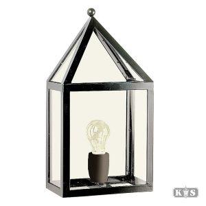 Platte wandlamp Leusden, zwart-0
