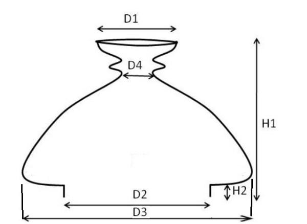 Kap vesta opaal 110 mm 17