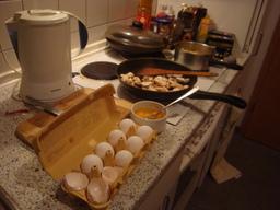 sehr weiße Eier