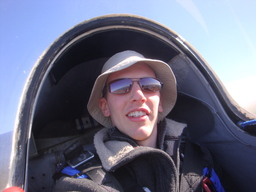 Yet another shot of me in a glider.