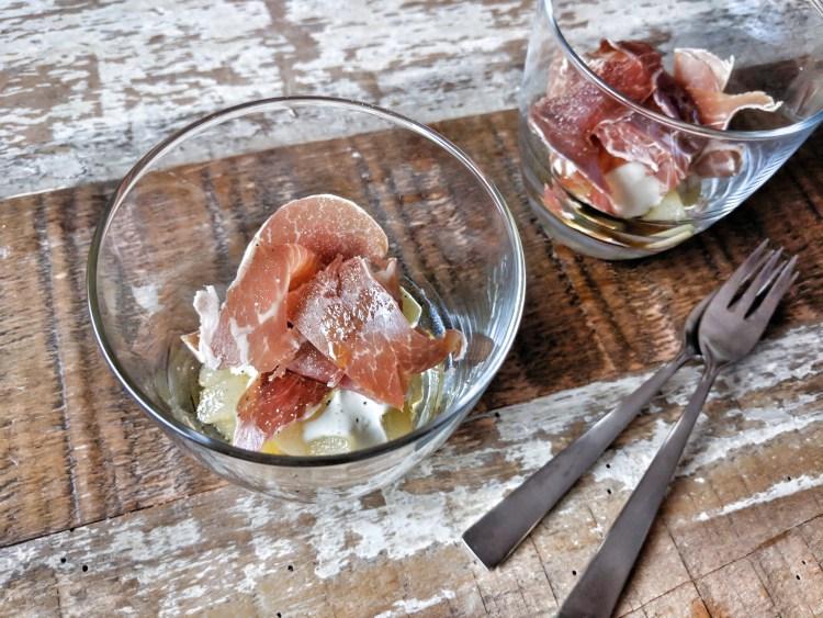 San Daniele ham with roquefort cream