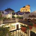 Terrasse des Hotel Casa Baños de la Villa in Andalusien