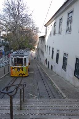 Ascensor da Glória in Lissabon