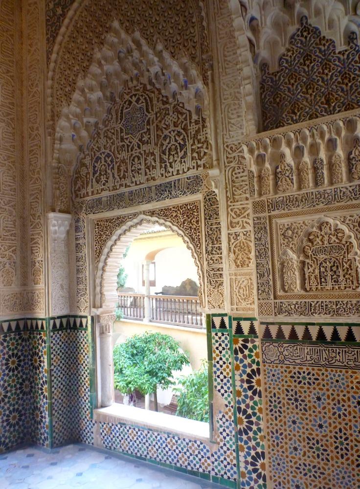 Wunderschöne Verzierungen in der Alhambra