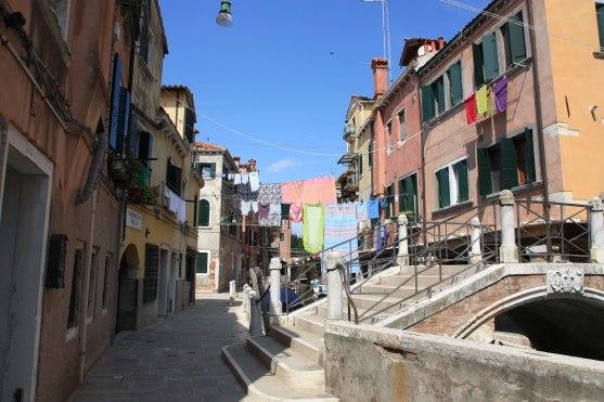 Venedig Gracht Wäsche