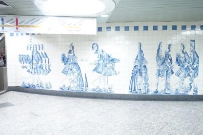 Fliesenkunstwerk am Campo Grande in Lissabon