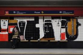 Picoas - Lissabonner Frauen - Kunst an der Metrohaltestelle in Lissabon