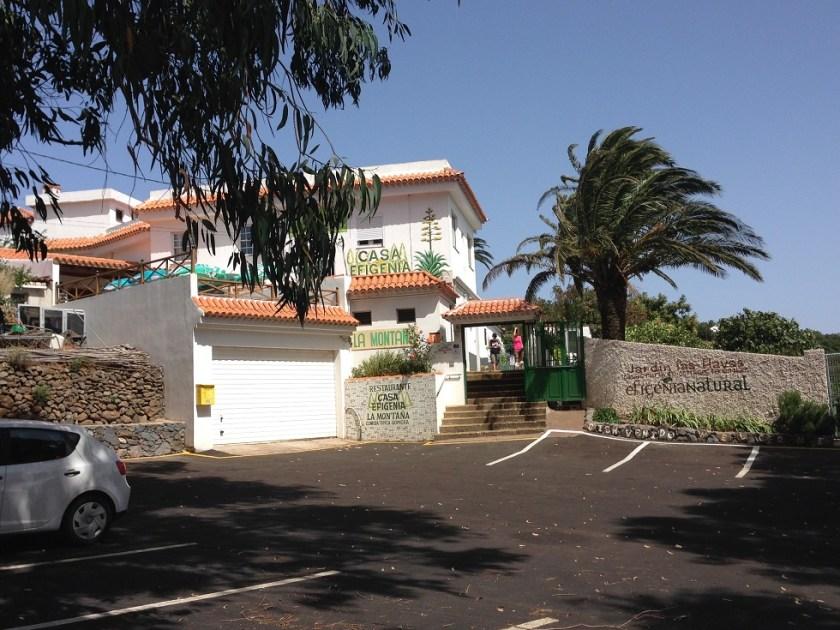 Parkplatz vor der Casa Efigenia