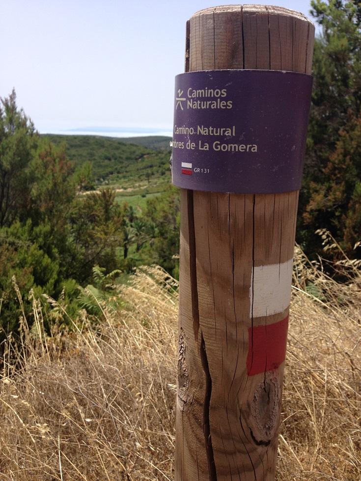Wegweiser Camino Natural La Gomera, Wandern