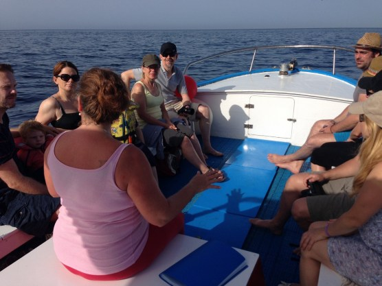 Whale Watching Einweisung auf dem Boot vor La Gomera