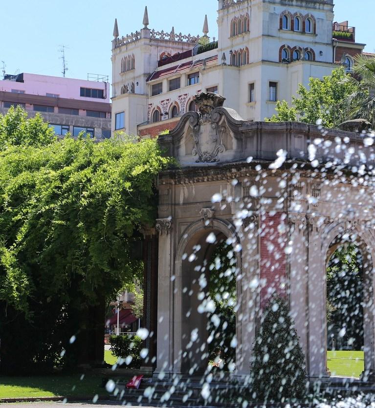 Brunnen in Bilbao, Spanien