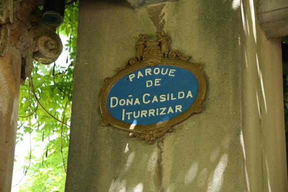 Schild Parque de Dona Casilda