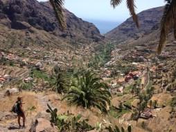 Panoramablick in das Tal Valle Gran Rey auf La Gomera