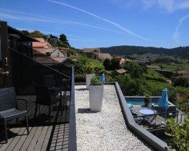 Balkon der Quinta Sam Amaro mit Blick ins Grüne