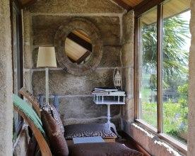 Lounge aus ehemaligem Getreidespeicher Quinta San Amaro