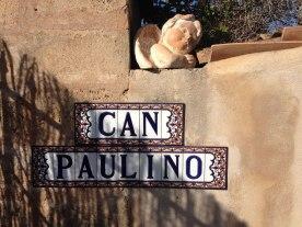 Eingangsschild Finca Can Paulino