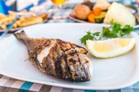 Gegrillter Fisch im Restaurant auf Madeira
