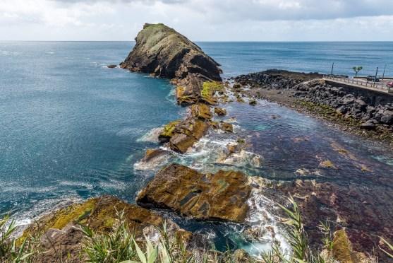 Felsen Küste Sao Miguel Azoren