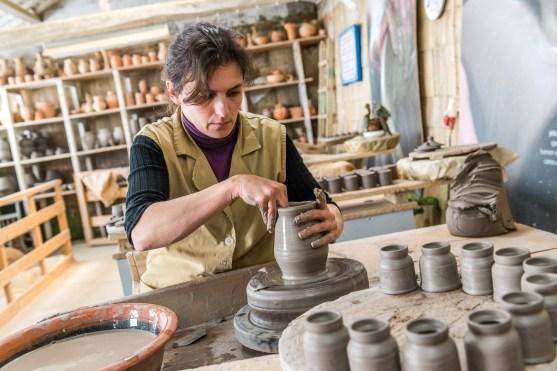 Herstellung Keramikvase Azoren