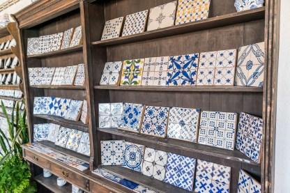 Bemalte Keramik Fliesen Azulejos Azoren