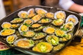 Muscheln in Pfanne auf Azoren Sao Miguel