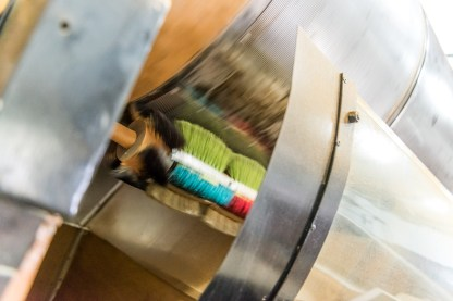 Bürsten in Teefabrik Maschine Azoren
