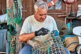 Fischer an der Algarve