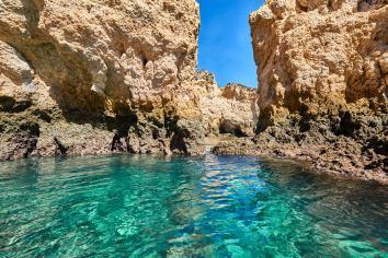 Meer Felsen Unternehmung Algarve Küste